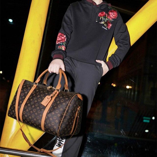 Moda à prova dwaterproof água sacos de viagem homens/mulheres fitness bolsa de ombro de couro bolsa de negócios grande viagem tote bagagem saco masculino/feminino 5