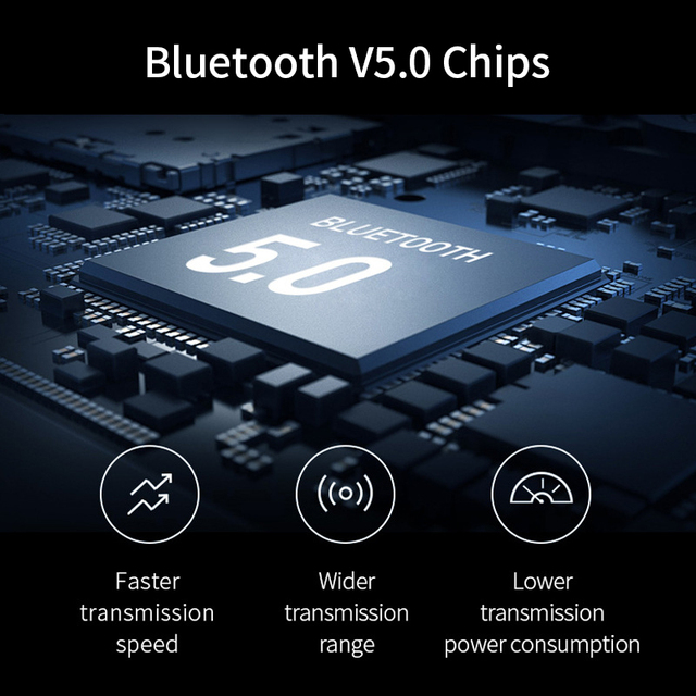 Bluetooth 5.0 True Wireless Earbuds with Charging Box Waterproof Earphone Volume Control Mini TWS Headphone Handsfree for Sports 4