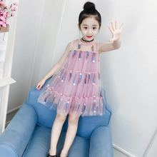 Girls Summer Dresses Children Princess Dress Kids Girl Fashion Sleeveless Mesh Frocks Baby Girl Clothes 6 8 10 12 14 years 2019 kids girl sleeveless dress summer girls prined flower dresses children clothes baby cotton princess dress outfits
