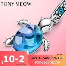 CODEDOG OZEAN SERIS CHARME 925 Sterling Silber Murano Glas Meer Charme Schildkröte Schildkröte Cuckold Perlen fit Original-Pan Schmuck