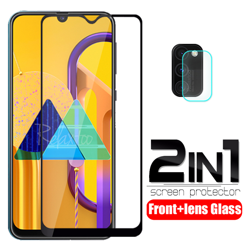 2 In 1 Camera Protective Glass On The For Samsung Galaxy M30S M 30S 2019 M307F M307 SM-M307F/DS 6.4'' Screen Protector Lens Film