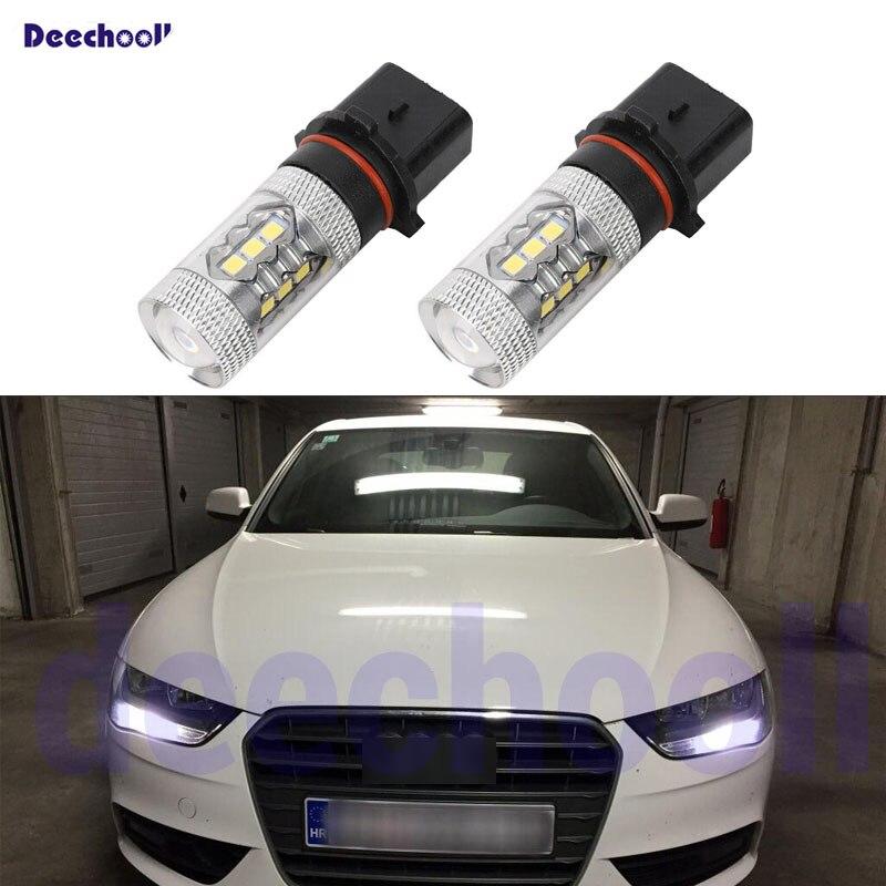 Car LED Light For Audi A4 B8 S4 A4 Allroad 2008-2015 LED Fog Light Fog Lamp