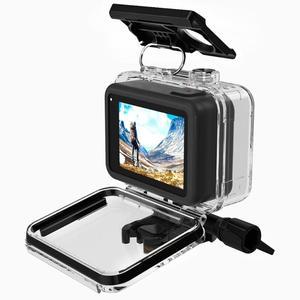 Image 4 - 60m Custodia Borsette Per GoPro HERO 8 Nero Duro di Protezione Gabbia Custodia Per Go Pro Hero8 2019 Macchina Fotografica di sport accessori