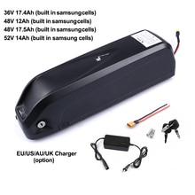Аккумулятор для электровелосипеда 52 в, 14Ah, 48 В, 12Ah, 17.5Ah, 36 В, 17.4Ah, встроенный аккумулятор для велосипеда samsung 18650