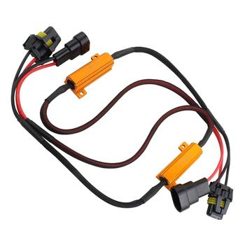 2 x 9005 LED DRL Fog Light Canbus 50W 6Ohm Load Resistor Wiring Canceller Decoder Resistor Fog Headlight Harness Lights Decoders image
