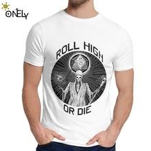 Классическая футболка с круглым вырезом D20 Reaper Roll High или Die, мягкая тонкая мужская футболка на заказ