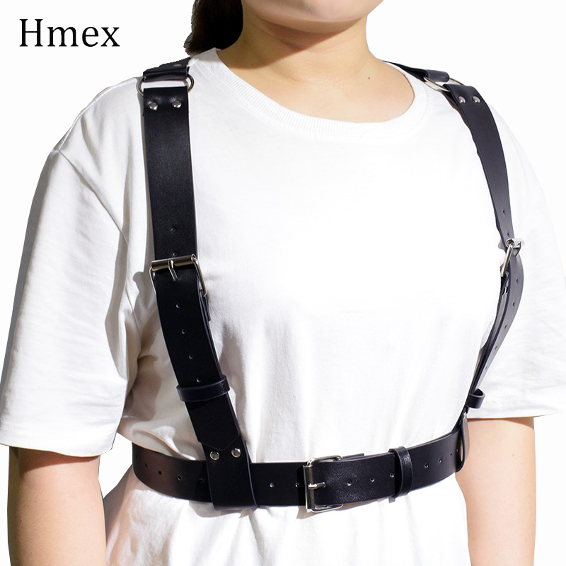 Sexy Pu Leather Wide Belts For Women Body Bondage Cage Fashion Punk Female Sculpting Harness Waist Belt Large Size Suspenders