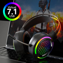 Professional Gaming Headset with Microphone Wired Game Headphones Virtual 7.1 for Computer PC Laptop 3.5mm for PS4 Xbox  Gamer