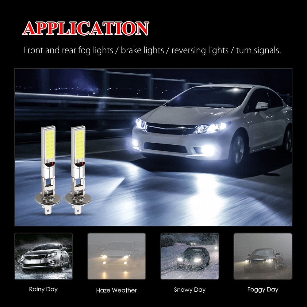 4pcs H1 LED Headlight High Low Beam Light SMD Bulbs Vehicle Lamp