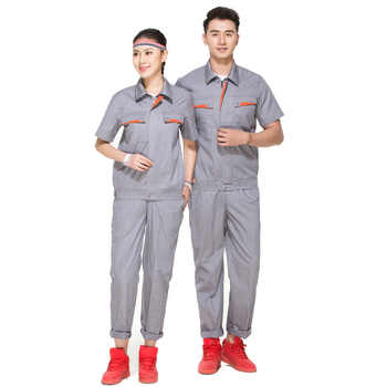 Woman Men Work Overall Workshop Uniforms Spring Thin Pockets Coveralls Welding Suit Car Repair Workshop Coat And Pant Plus Size