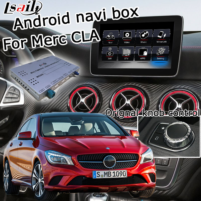 Android GPS navigation box for Mercedes benz CLA class NTG 5.0 video interface box mirror link youtube waze with carplay Mercedes-Benz CLA-класс