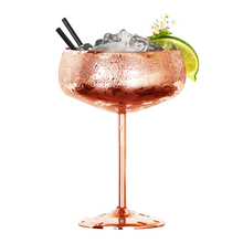 Stainless Steel Large Capacity Wide Mouth Butterfly Cup Creative Metal Wine Glass Bar Restaurant Champagne Cocktail  Cup Goblet 200ml hot sale creative home decoration 3d resin skull shape stainless steel wine goblet