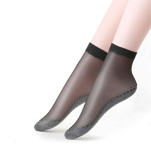 Набор хлопковых мягких модных ультратонких дышащих прозрачных женских носков 5