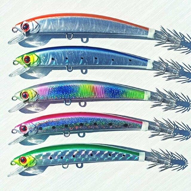 5 шт., 14 см/23 г, тонущий джиг осьминог, джиг кальмар, искусственная жесткая приманка для рыбной ловли