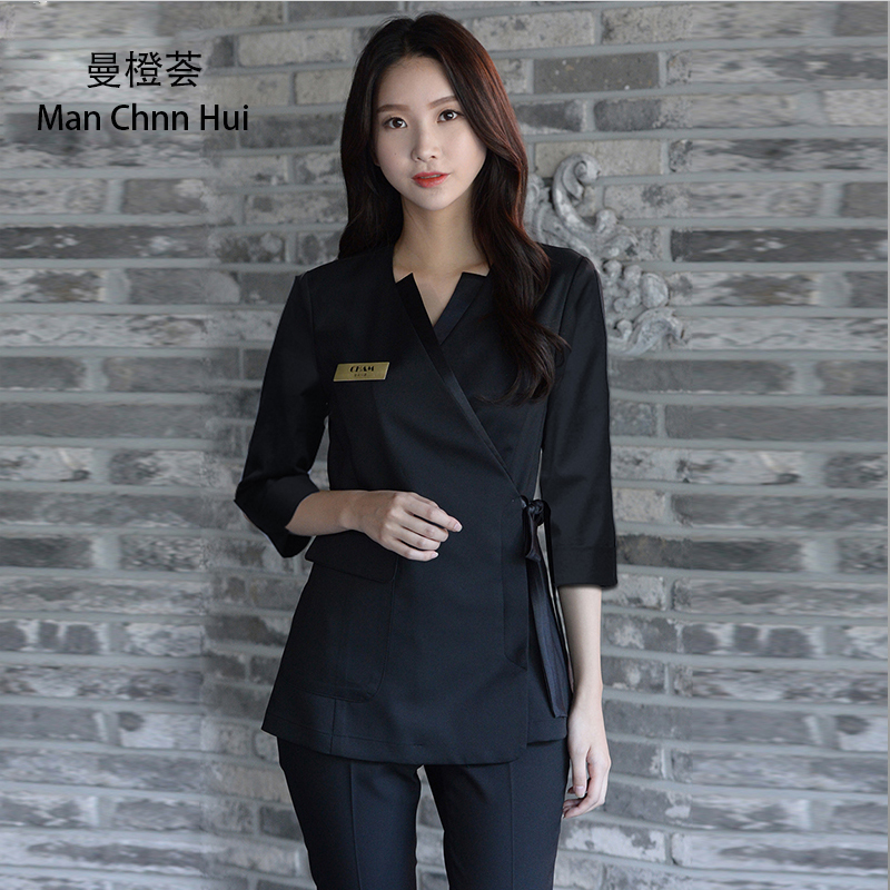 Beauty Clothing Korean Style Spa Health Club Beauty Salon Medical Uniform New Staff Work Wear S Top+pants Women's Suit