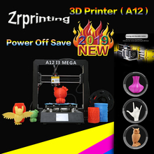 3D Printer A12 Mega Plus Size Full Metal Frame Platform Desktop Industrial Grade High Precision 3d Drucker Kits Filament high qualtiy wanhao high precision d4s industrial 3d digital laser metal printer for sale with free tool bag sd card filament