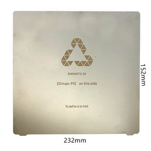 Энергичный пользовательский маленький размер 3D принтер hotbed, пружинный стальной лист тепловой кровати применяется PEI Flex печать кровать квад...