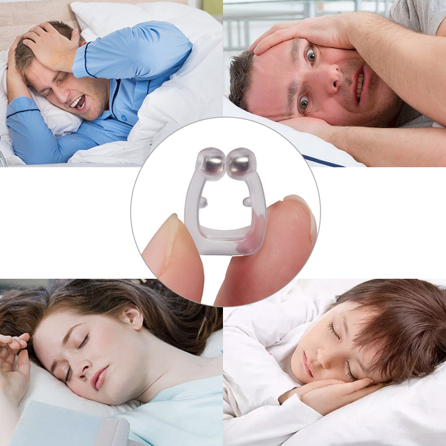 Sleeping Anti Schnarchen Nase Clip Silicone Magnetic Anti Snoring Nose Clips Breathing Stop Snore Apnea Antisnoring Clip Device 1