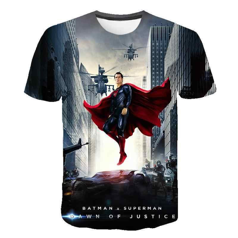 2020 גברים 3d חולצת טי אופנה מותג דפוס דיגיטלי חולצה קיץ גברים סופרמן איש ברזל קצר שרוול חולצה סיטונאי וקמעוני