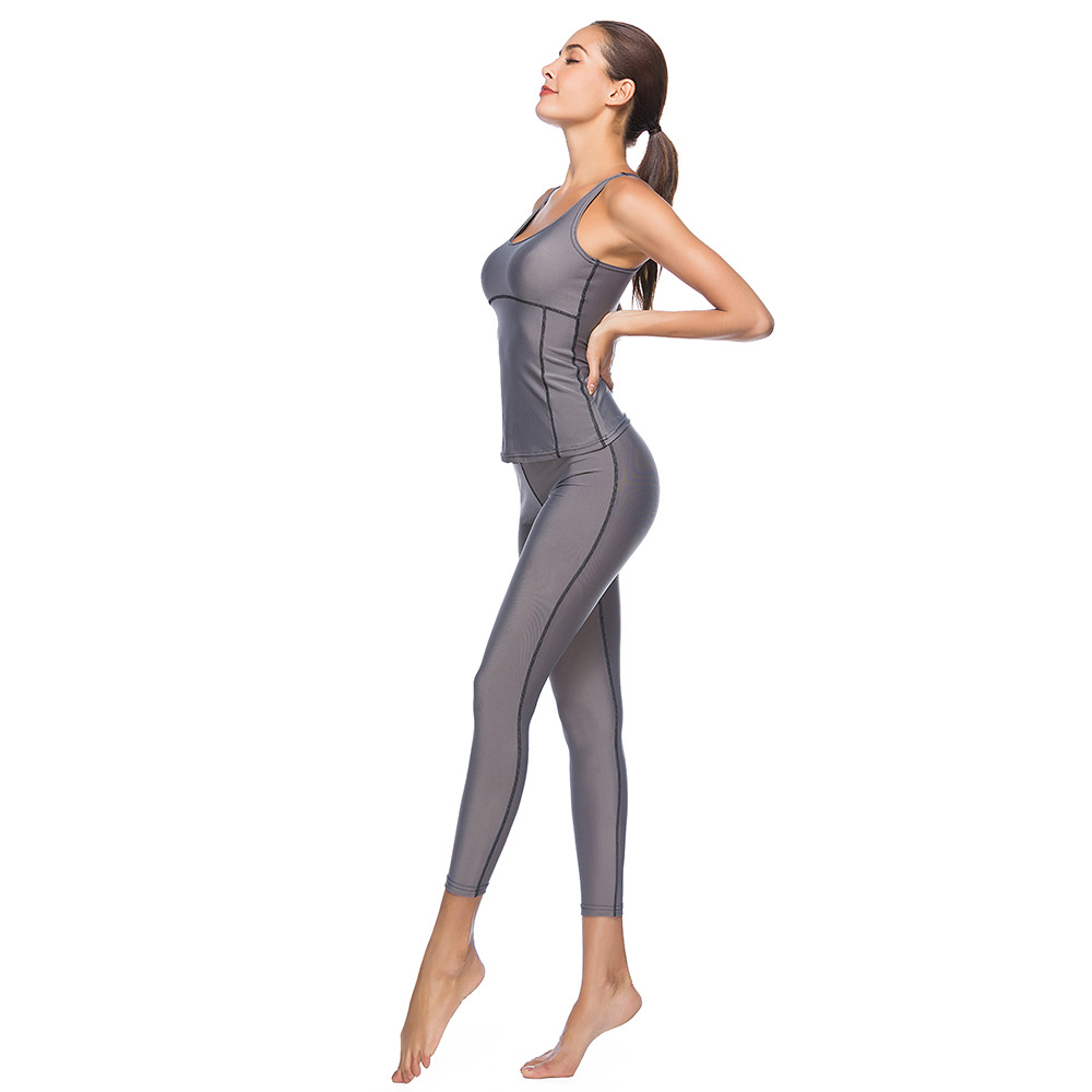 European And American-Style Yoga Clothes Suit Summer Fashionable Skinny Women's Sports And Leisure Fitness Set