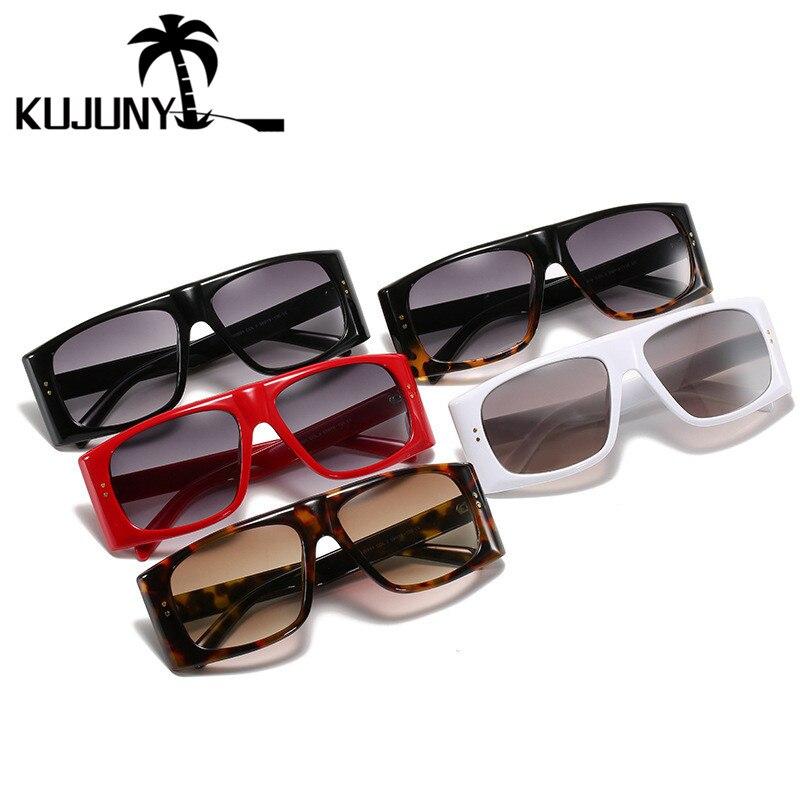 Мужские и женские прямоугольные очки kujuny Винтажные Солнцезащитные