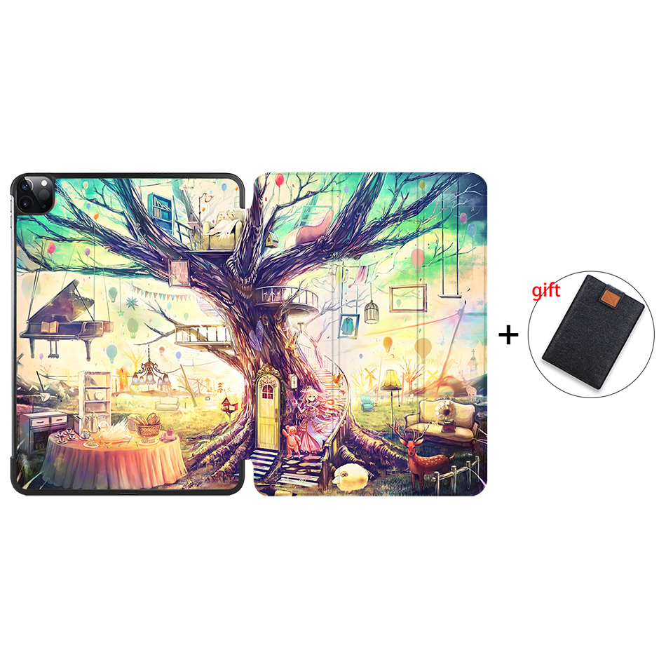 IP13 Orange MTT Case For iPad Pro 11 inch 2020 PU Leather Magnetic Fold Flip Smart Cover Protective