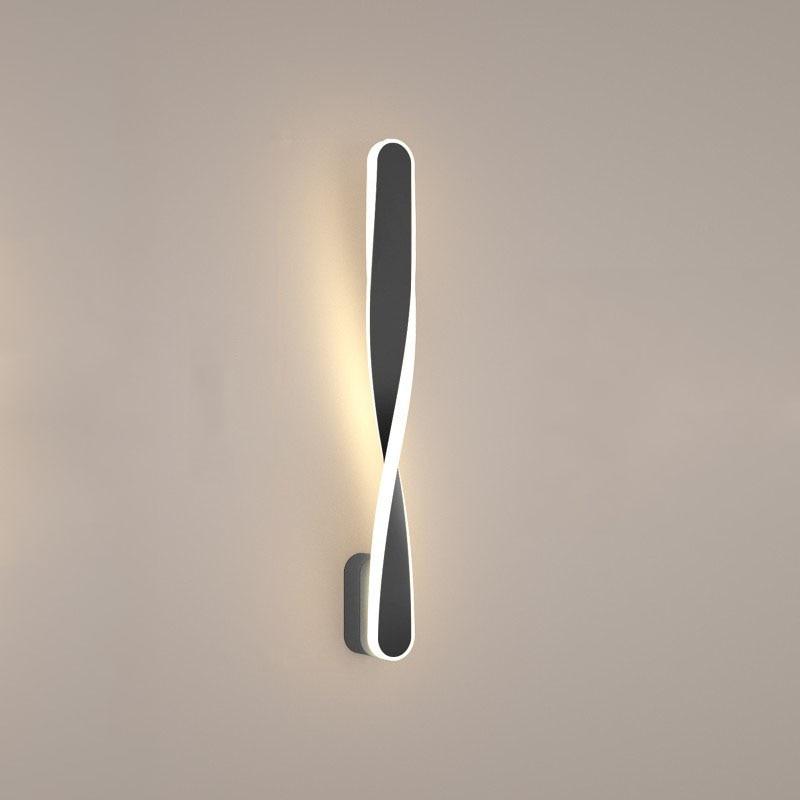 led, lâmpada de parede espiral nórdico moderno,