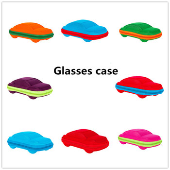 New 1Pcs car shaped Eyewear Cases Cover Sunglasses Case For Women Fashion Glasses Box With Zipper Eyeglass Cases For Men image