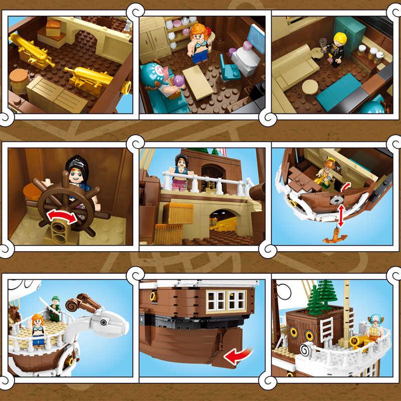 QIYE Lepining słomkowy kapelusz piraci syrenka pirat słoneczny statek bloki 3D2Y Techinc Playmobil oryginalny jeden sztuk Lepinblcoks zabawki dla dzieci
