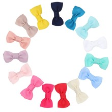 15 Pcs/Lot Mini Solid Hair Clips For Girls Grosgrain Ribbon Hairgrips Cute Handmade Hairpins Candy Color Accessories