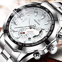 Wg movimento automático relógio importado movimento mecânico à prova dwaterproof água luminosa duplo calendário senhoras famoso relógio