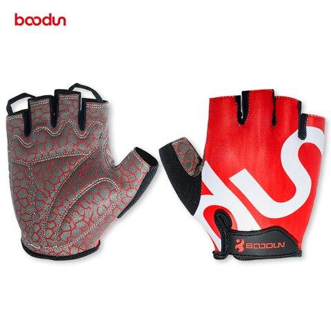 Luvas de Ginásio Anti-deslizamento de Levantamento de Peso Luvas de Fitness Construção do Corpo Boodun Esportes Acolchoado Crossfit Exercício Treinamento Treino 3d Gel