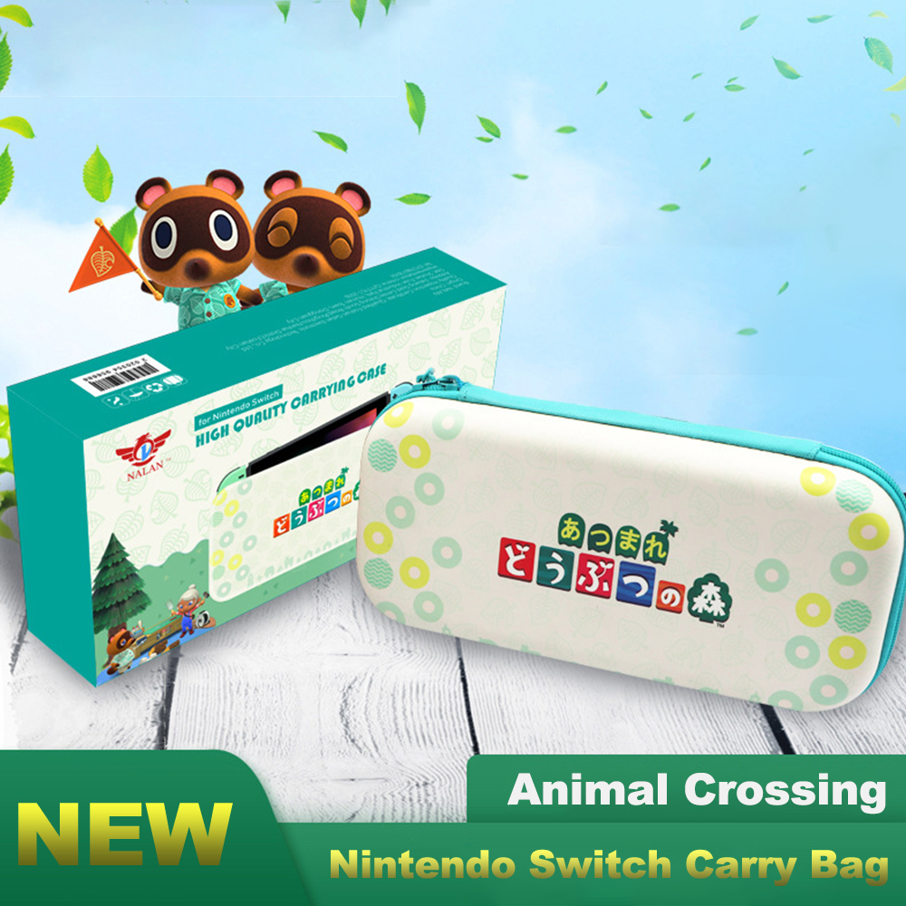 Nintend Switch Travel Carrying Bag NS Accessories Bag Cases Game Card Case Portable Storage For Nitendo Switch Animal Crossing