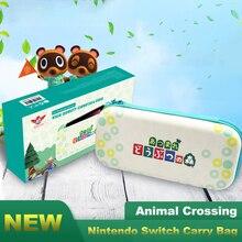 Nintendo Switch Bolsa de transporte de viaje, accesorios para NS, maletines, estuche de tarjetas de juego, almacenamiento portátil para Nintendo Switch, Animal Crossing