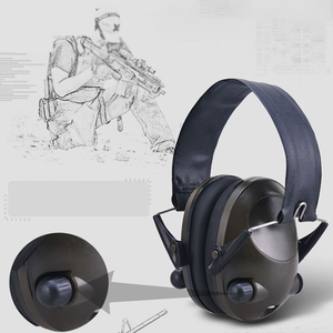 Image 5 - Foldable Portable Soft Solid Noise Reduction Shooting Adjustable Active Hunting Hearing Protection Earmuffs Ear Protector