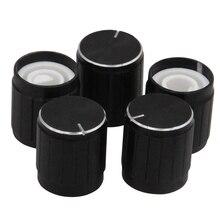 5PCS Für KY-040 360 Grad Drehgeber Aluminium Legierung Halbe Welle Loch Caps Für Arduino Brick Sensor Schalter Potentiometer