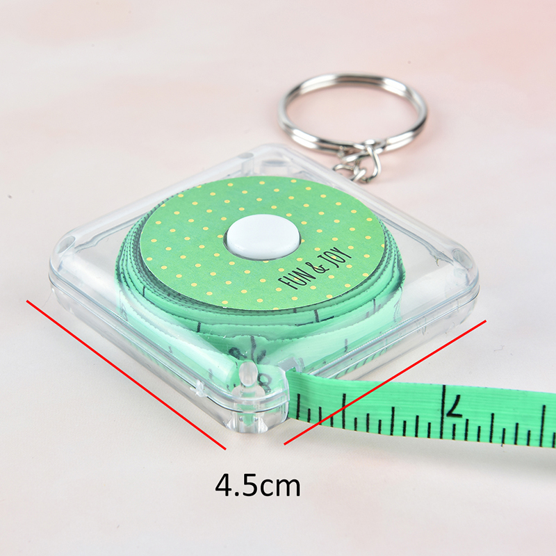 150CM 60inch Portable Retractable Mini Centimeter Inch Measuring Ruler Tape Round Shape Plastic Sewing Tailor