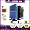 Eglobal дешевый безвентиляторный мини ПК Windows 10 Pro Intel i5 7200U i3 7167U i7 4500U DDR4/DDR3 Barebone компьютер 4K HTPC WiFi HDMI VGA