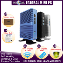 Eglobal barato fanless mini pc windows 10 pro intel i5 7200u i3 7167u i7 4500u ddr4/ddr3 barebone computador 4 k htpc wifi vga hdmi