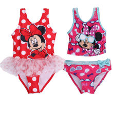 Summer Girl Bikini Set Swimwear New Baby Girls Two-Piece Swimsuits Kid Toddler Cartoon Bathing Tankinis Bathing Swimsuit 3-7T