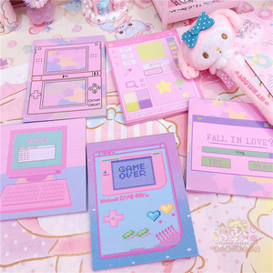 Creative Kawaii Memo Pad Cute Computar Loose Leafe Sticky Notes Student Notepad Planner Office School Stationery Supplies 02144