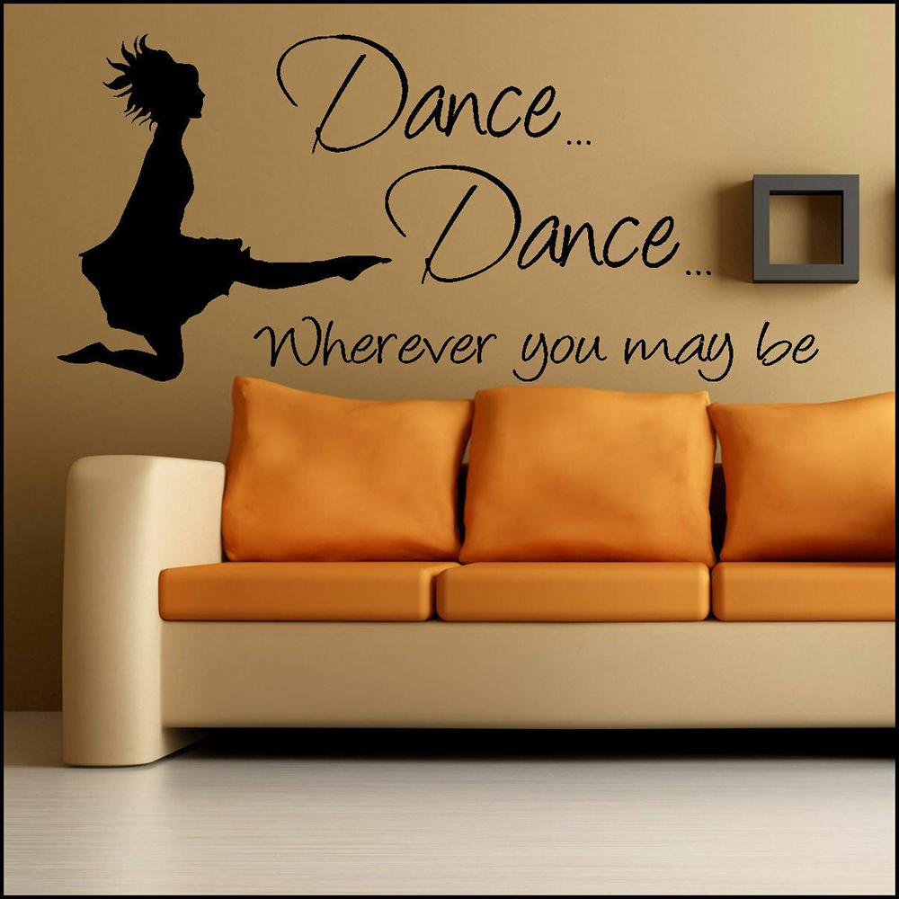 Irish River Dance Wall Sticker Quotes Where ever you may be Living Room Decor Wal Decal Vinyl Dancer Bedroom Deocration Z538 image