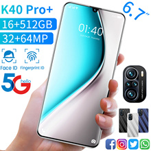 New Global Version K40 Pro  6 7Inch SmartPhone 6000mAh 16 512GB 32 64MP Android 11 Full Screen Face ID Dual SIM 4G 5G Cellphone