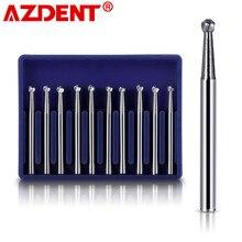 Foret dentaire rond en carbure de tungstène FG 1/2/3/4/5, 1.6mm pour pièce à main à grande vitesse