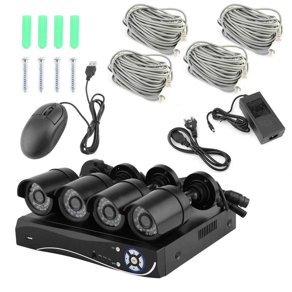 4CH/8CH 1080P POE NVR CCTV система 2MP наружная внутренняя камера с функцией обнаружения движения, ночное видение, ip-камера, монитор для видеонаблюдения,...