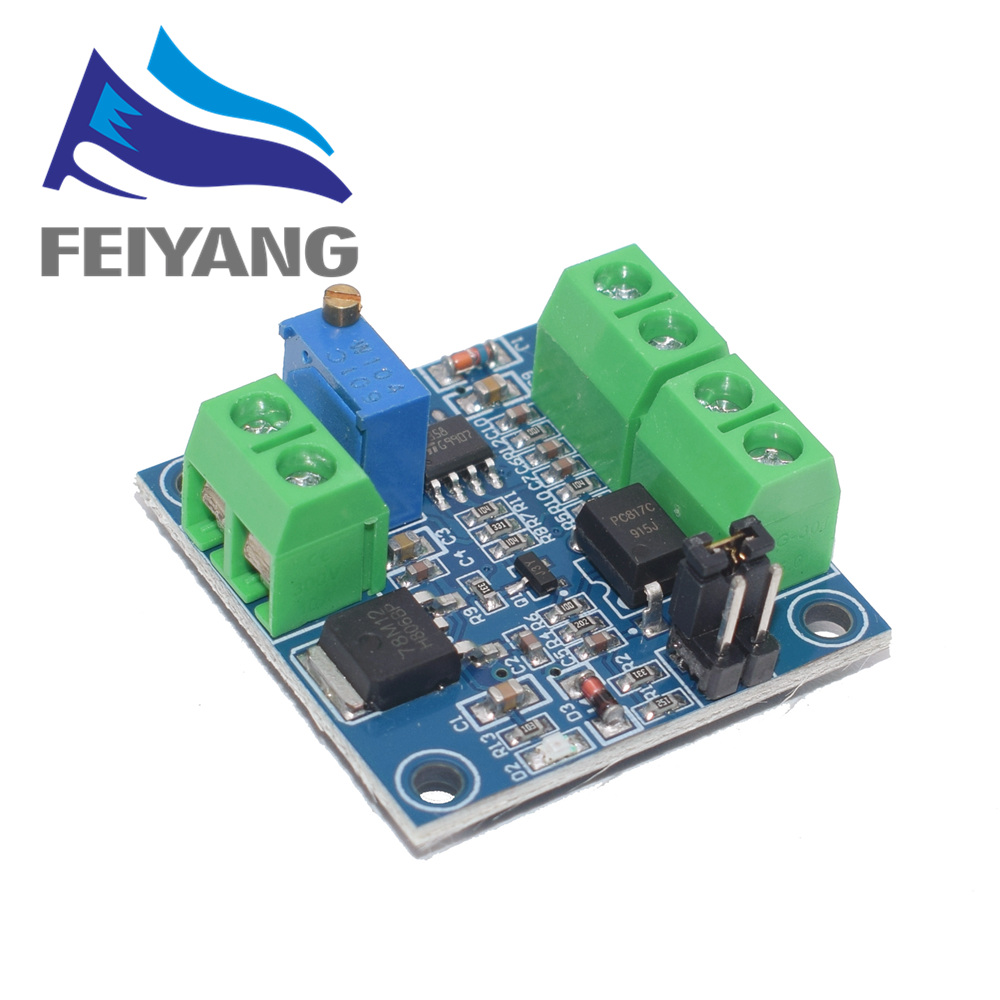 1PCS PWM to Voltage Converter Module 0%-<font><b>100</b></font>% to 0-10V for PLC MCU Digital to Analog Signal PWM Adjustabl Converter Power Module image