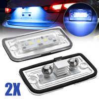Auto Lichter 2 stücke LED Kennzeichen Licht 6000K Super Helle Anzahl Platte Lampe Für Mercedes Benz C W203 CLK W209 SL R230 KB27