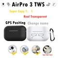 AirPro 3 TWS Auriculares inalámbricos con bluetooth posicionamiento renombre Cancelación de ruido transparente pk i100000 i90000 pro i100000 air3 pro