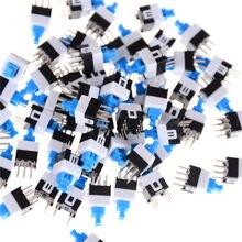 Micro interrupteur Tactile à 6 broches, 50 pièces, bouton marche/arrêt, verrouillage automatique, électronique, 7x7mm, 7x7mm