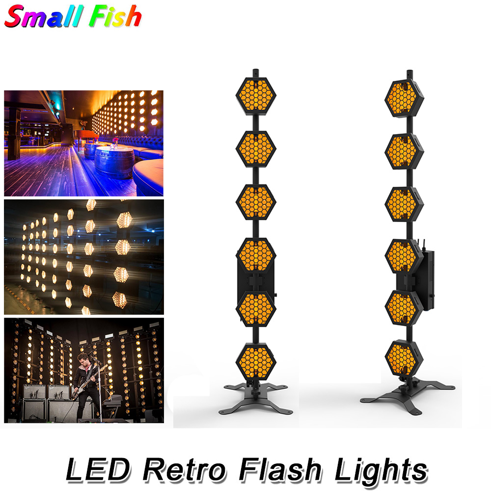 Six-Line Hexa Pixel Lights LED Retro Flash Stage Light For Party Holiday Colorful Stage Lighting DJ Laser Projector Wash Effects image